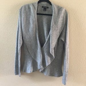 White House Black Market Long sleeve Grey Cardigan